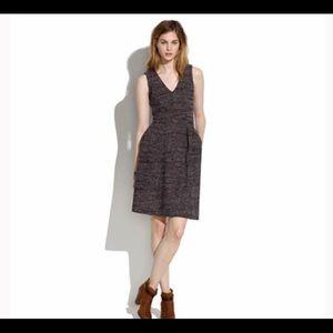 Madewell Brown Terrace Tweed Dress